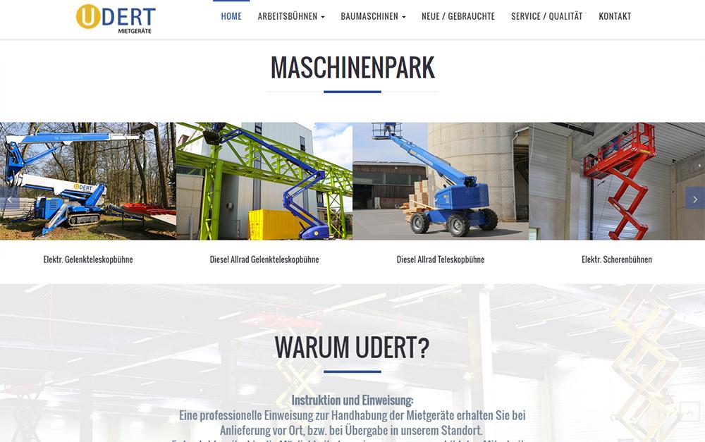 Screenshot der Webseite